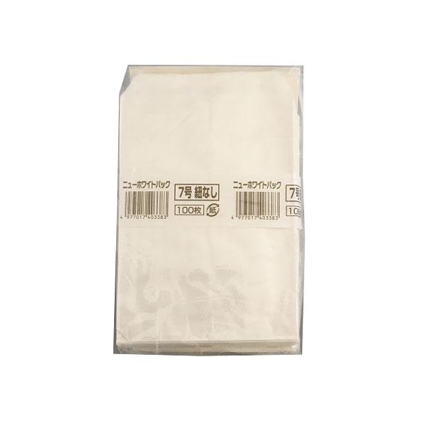 【紙袋】ニューホワイトパック 紐なし 7号 12000枚