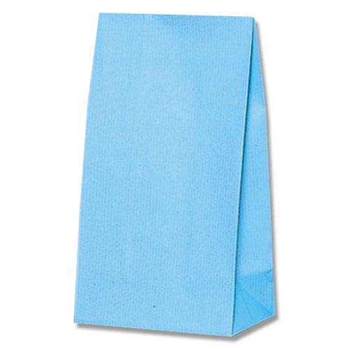 #006460205 【ケース販売】 M 【シモジマ】 ブルー ワイドバッグ 100枚入