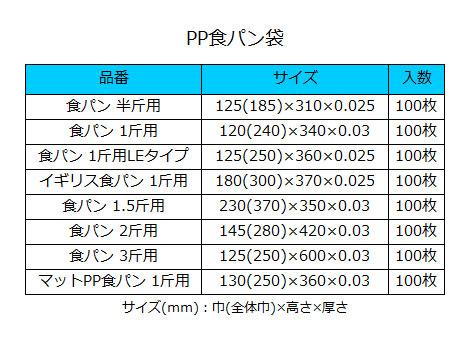 HEIKO 食パン袋 1斤用 マットPP(100枚入)