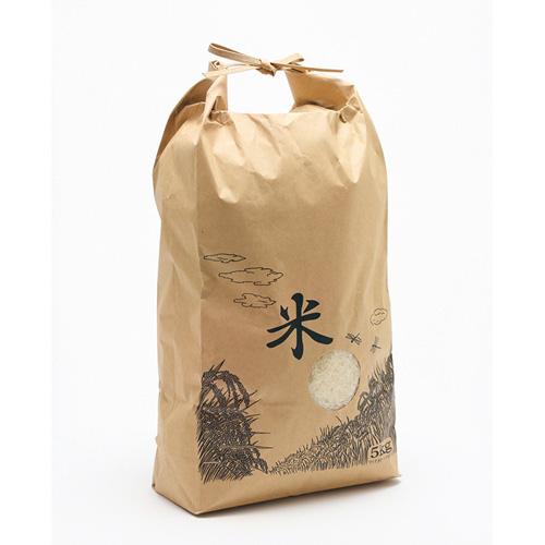 【お米用紙袋】米袋3kg用 WB3KG 米・バンド・窓付 スタンダード (100枚入)