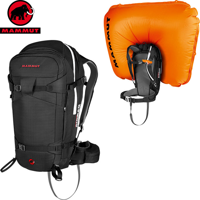 クーポン利用で10%OFF!10/17AMまで!MAMMUT マムート Pro Removable Airbag 3.0 DAYパック スキー用 エアバッグ (black):2610-01270