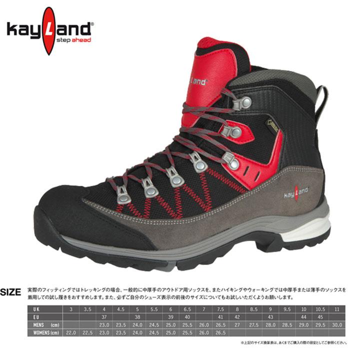 KAYLAND ケイランド FAST HIKE JP ファスト ハイク JP 〔登山靴 ゴアテックス メンズ〕 (220レッド):1110014 [特価 シューズ]