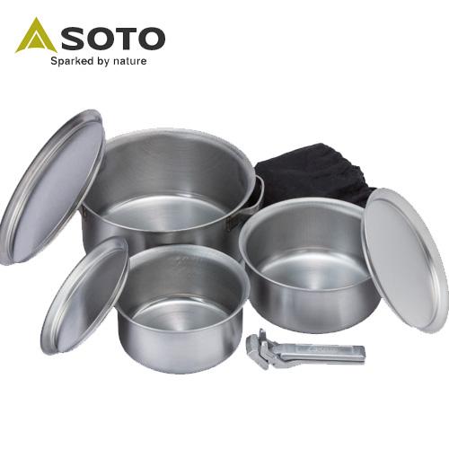 SOTO ソト ステンレスヘビーポット GORA ゴーラ 調理器具 クッカー 登山 キャンプ ツーリングST-950 [CAMP]