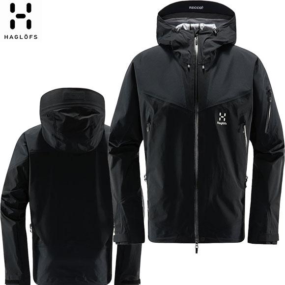HAGLOFS ホグロフス Roc Spire Jacket メンズ 20-21 シェルジャケット ゴアテックス レディース (TrueBlack) 604357【 6/25 18:00から7/11 10:00まで】