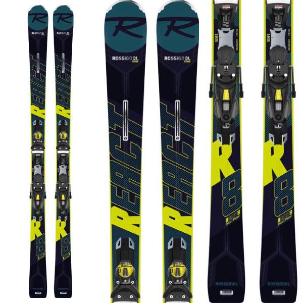 ROSSIGNOL ロシニョール 19-20 スキー 2020 REACT R8 HP + (NX12 Konect 金具付き) リアクト R8 HP スキー板 :RAILH01