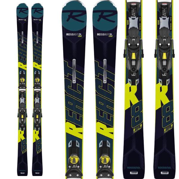 ROSSIGNOL ロシニョール 19-20 スキー 2020 REACT R8 HP + (NX12 Konect 金具付き) リアクト R8 HP スキー板 :RAILH01