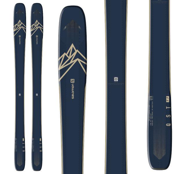 SALOMON サロモン 19-20 スキー 2020 QST 99 クエスト 99 (板のみ) スキー板 パウダー ロッカー (onecolor):