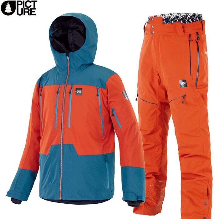 ポイント10倍!PICTURE ピクチャー DUNCAN JKT 3in1+NAIKOON PT 2019-2020 上下セット MEN スキーウェア 男性用 2019/2020 FW :MVT235&MPT090 [206_SKIW] [206_SALE]