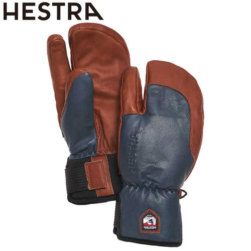 NEWモデル 早期 予約 HESTRA ヘストラ 20-21 3-Finger Full Leather Short 280750(Navy/Brown) 2021 フルレザーショート グローブ 3本指 スキー スノーボード 33872 [SKIAC]