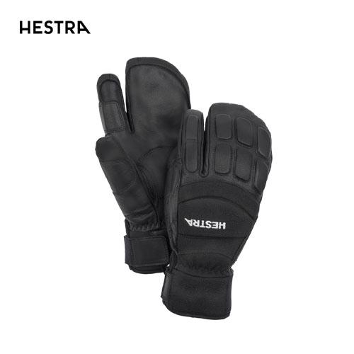HESTRA ヘストラ 2020モデル Vertical Cut CZone 3-Finger 30192 スリーフィンガー 100100(Black/Black) スキーグローブ スノーボード グローブ レザー