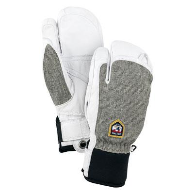 保温性と操作性を両立させたモデル スーパーセール限定、エントリーでPt10倍!HESTRA ヘストラ 2020モデル Army Leather Patrol 3-Finger 30592 アーミーレザーパトロール 320(Light Grey) スキーグローブ スノーボード グローブ レザー