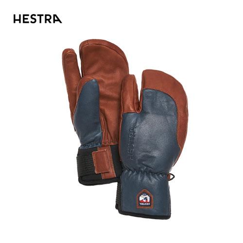 HESTRA ヘストラ 2020モデル 3-Finger Full Leather Short 33872 スリーフィンガーフルレザーショート 280750(Navy/Brown) スキーグローブ スノーボード