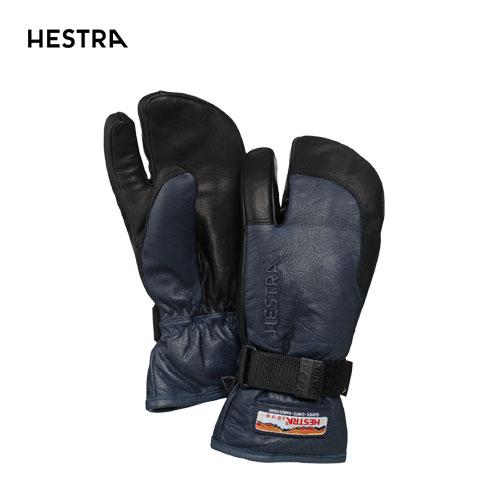 HESTRA ヘストラ 2020モデル 3-Finger GTX Full Leather 33882 スリーフィンガーゴアテックス 280100(Navy/Black) スキーグローブ スノーボード ゴアテックス