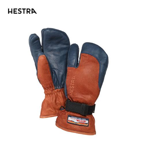HESTRA ヘストラ 2020モデル 3-Finger GTX Full Leather 33882 スリーフィンガーゴアテックス 750280(Brown/Navy) スキーグローブ スノーボード ゴアテックス