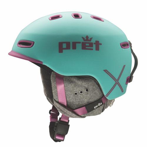 ポイント10倍!Pret プレット 17-18 ヘルメット Lyric X Teal リリックエックス スキーヘルメット HELMET 2018 : [206_SKIAC] [206_SALE]