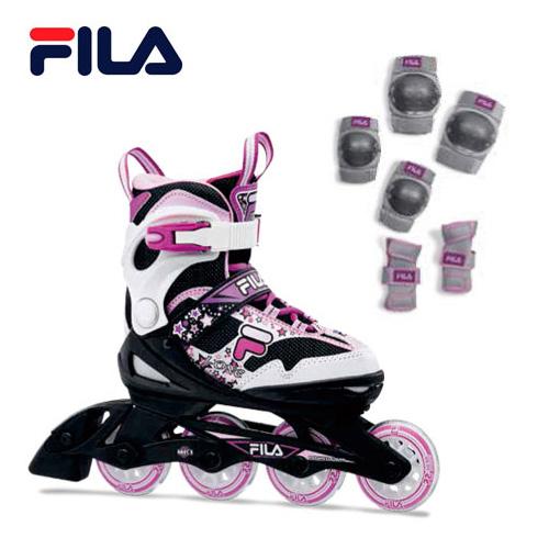 スキー オフトレ FILA 予約販売 フィラ J-ONE COMBO インラインスケート プロテクターセット キッズ ジュニア 子供用 GIRL 買い取り