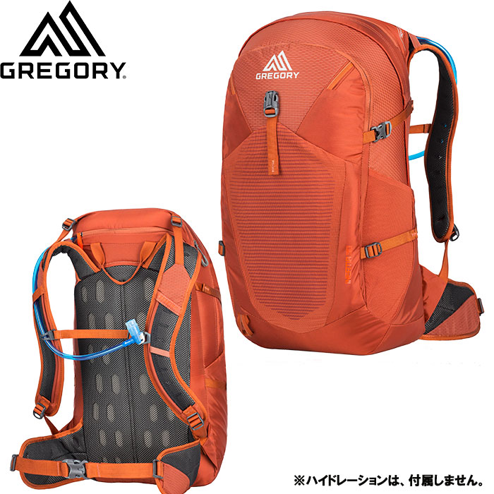 gregory グレゴリー INERTIA 30 イナーティア 30 特価 30%OFF 登山 アルパイン ザック デイパック (FERROUS-ORANgE) [pt0]:INERTIA30 [特価 pack]