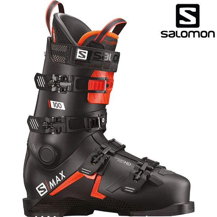 SALOMON サロモン 18-19 スキーブーツ S/MAX100 エスマックス 100〔2019 スキーブーツ DEMO 基礎スキー 上級者〕 (Black-Orange-White ):L40547800