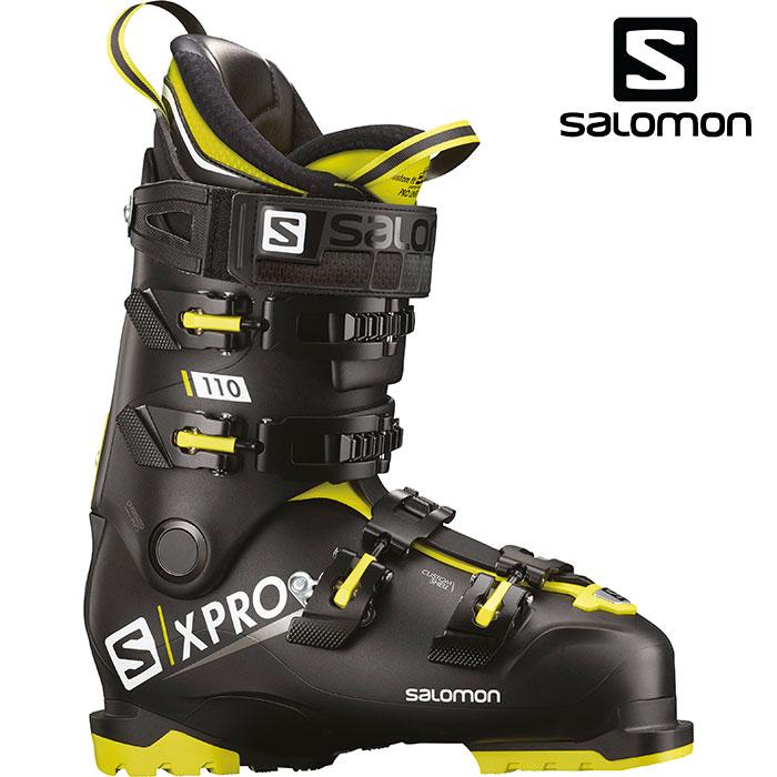 SALOMON サロモン 18-19 スキーブーツ X PRO 110 エックスプロ110〔2019 スキーブーツ オールラウンドモデル 上級者 〕 (Black-Acid Green):L40551100