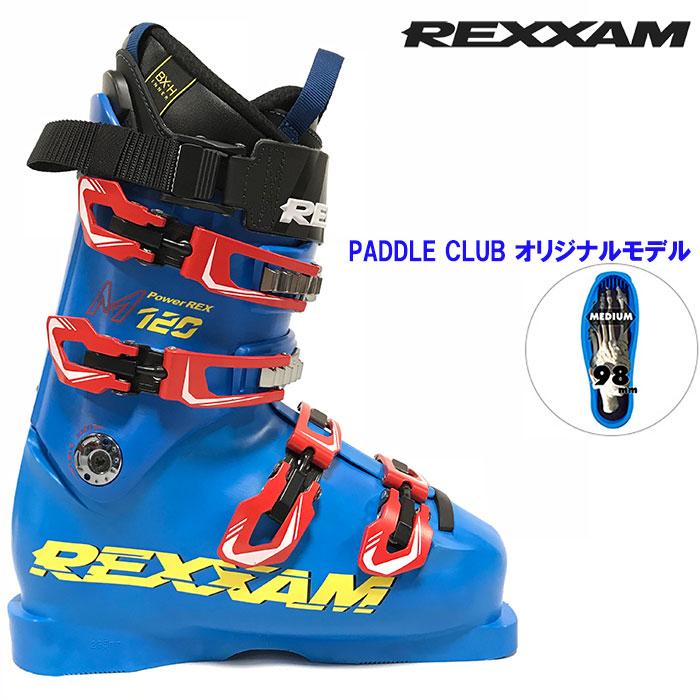 18-19 REXXAM レクザム スキーブーツ Power REX-M120 パワーレックスM120〔2019 エキスパートモデル レース DEMO 技術選 〕 (BLUE):X1JG-725P [outlet boot] 「0604BOOT」