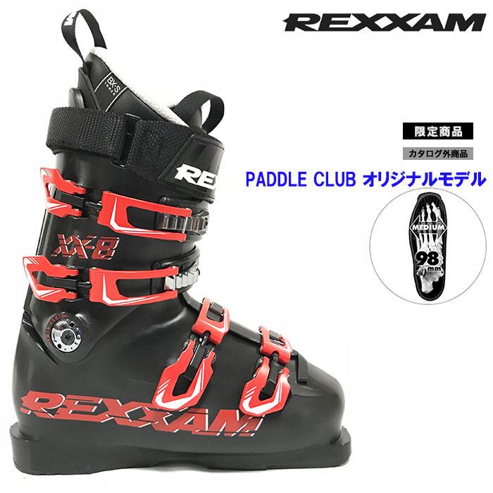 18-19 REXXAM レクザム スキーブーツ XX-8 クロス8〔2019 モーグル フリースタイル 上級者モデル 〕 (BLACK):X2JR-299P [outlet boot] 「0604BOOT」