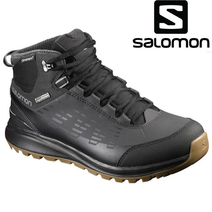 [11/16まで 10%OFFクーポンあり] サロモン SALOMON KAIPO CS WP 2 〔メンズ Footwear ウィンターシューズ 防寒靴〕 17/18 (Bk-ASPH-Tita):L39059000 [56-SHOES¥]