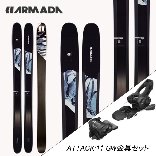 超特価SALE開催 アルペン金具2点セット ARMADA アルマダ 20-21 TRACER 118 + チロリア オールラウンド スキー 2ST SKI アタック2 金具セット GW 海外 11