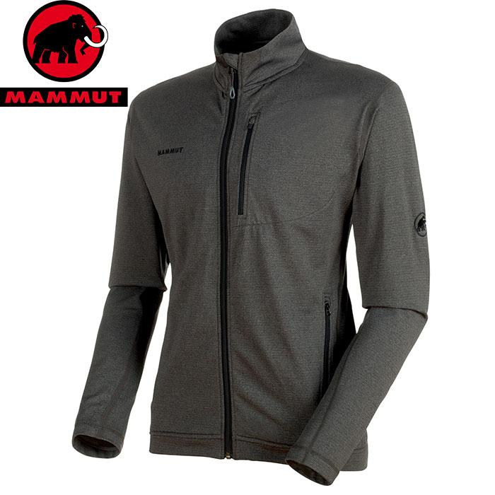 MAMMUT マムート EXCURSION Jacket Men ストレッチ フリース ジャケット ミッドレイヤー 2018FW 18-19 (black-melange):1014-00540