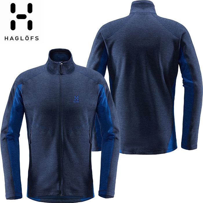 HAGLOFS ホグロフス 18-19 Heron Jacket Men 2019 メンズ フリース ジャケット アウトドア (TARNBLUE-COBALTBLUE):604112 [特価ホグロフス]