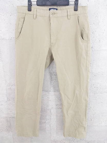 LANDS'END ワーク パンツ 85 カーキ系 日本正規代理店品 1002796829680 格安 中古 #