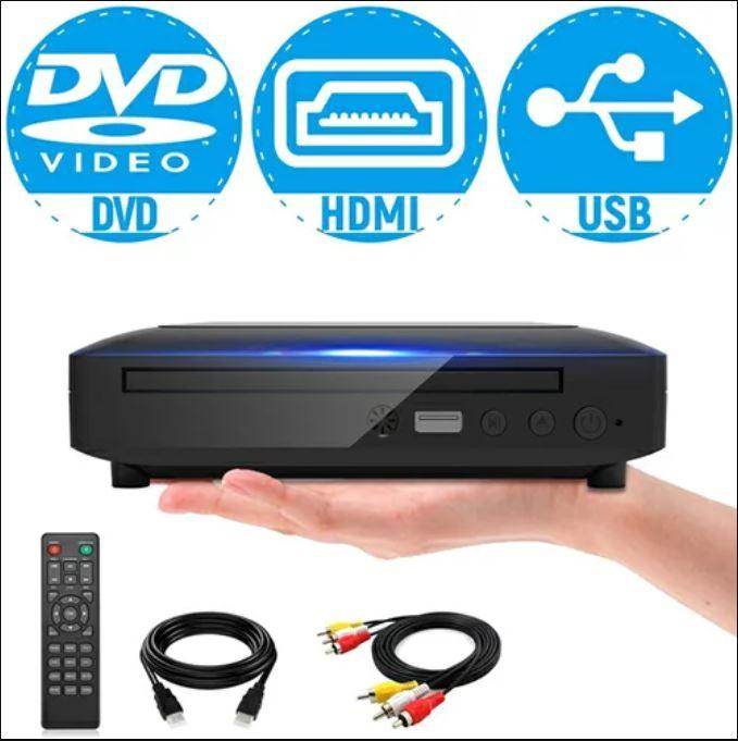 ミニDVDプレーヤー 1080Pサポート 人気ブランド多数対象 DVD CD再生専用モデル HDMI端子搭載 春の新作 CPRM対応 録画した番組や地上デジタル放送を再生する USB MIC-DP8043 テレビに接続できます 日本語説明書付き AV HDMIケーブルが付属し リモコン