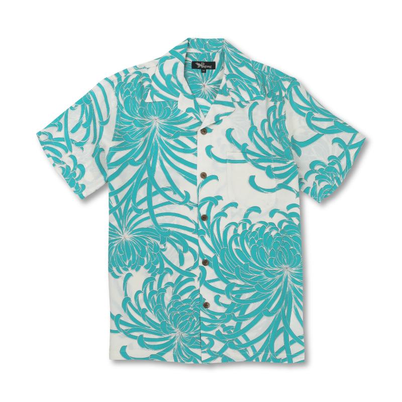 アロハシャツ <乱菊/新橋> 【Pagong】 和柄 アロハ 京友禅 メンズ シルク100%
