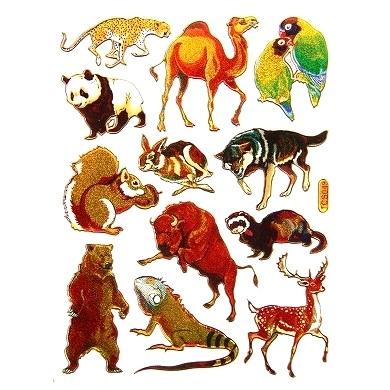 キラキラシール いろいろな動物 高級品 クマやリスやウサギ etc ごほうびシール 《メタリックシール 生き物シール》 開催中