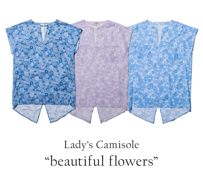 レディース シャツワンピース (女性用)「beautiful flowers」全3色 ブラウス