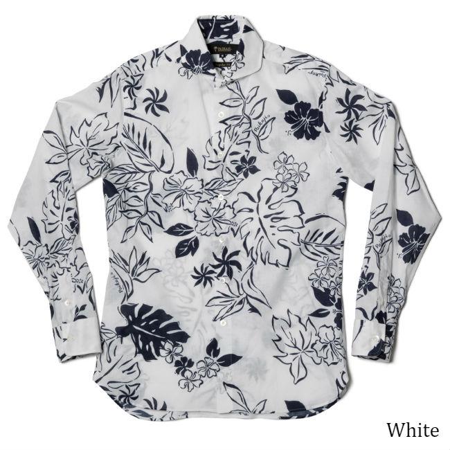 アロハシャツ メンズ(男性用)「Grace Neo」全2色 長袖 沖縄結婚式にアロハシャツ
