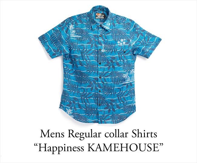 ドラゴンボール30周年記念シャツ アロハシャツ メンズ(男性用)「Happiness KAMEHOUSE」全1色 半袖 3L4L5L 大きいサイズあり 沖縄結婚式にアロハシャツ