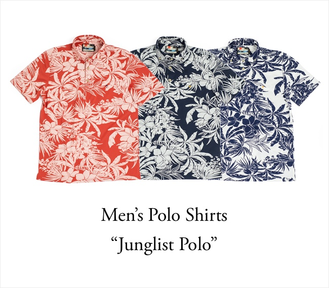 9af4bed6e It is a Hawaiian shirt in all three colors of aloha polo shirt men (for ...
