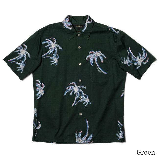 アロハシャツ メンズ(男性用)「Grand Palm Tree」全3色 半袖 沖縄結婚式にアロハシャツ