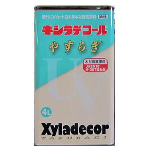 【送料無料】木材保護塗料キシラデコール白木用やすらぎ4L