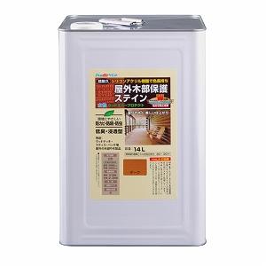 アトムハウスペイント(ウッドデッキ/防虫防腐/塗料)水性ウッドエバープロテクト(ステイン)14L チーク