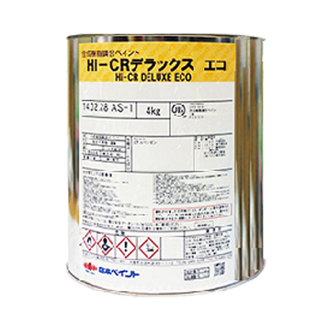 HI-CRデラックスエコ2 調色品(濃彩) ツヤあり 4kg(約12~16平米分) 日本ペイント ニッペ 弱溶剤/木部・鉄部用/鉛・クロムフリー