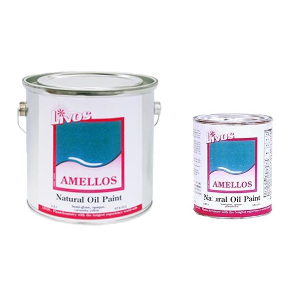 【レビューで300円CP!送料無料】AMELLOS(アメロス) No.674 全8色 5分ツヤ 2.5L(25平米分) リボス 自然健康塗料 亜麻仁油