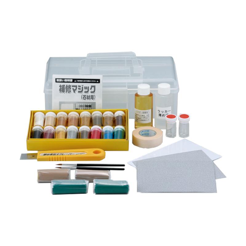 補修マジック(石材、木材用)割れ、カケ、ひびの補修 DVD付き塗料販売