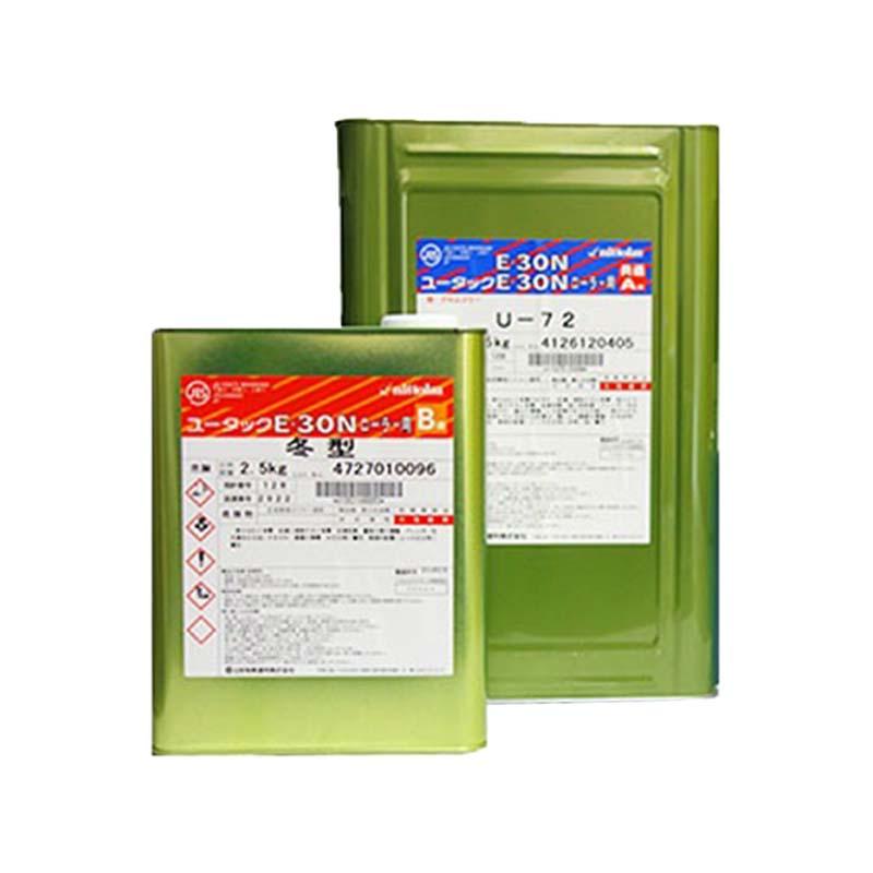 ユータックE-30Nローラー用 全20色 ツヤあり 15kgセット(25平米分) 日本特殊塗料 無溶剤/床用/厚膜/防塵
