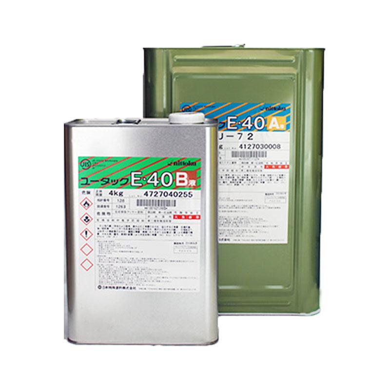 ユータックE40 全18色 ツヤあり 16kgセット(約53平米)_日本特殊塗料_油性/床用/薄膜タイプ/エポキシ樹脂