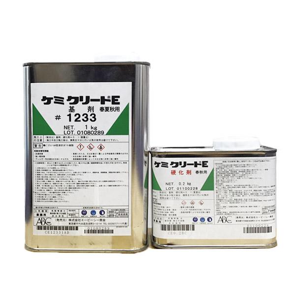 ケミクリートE 1.2kgセット ABC商会 エポキシ樹脂系塗り床材 厚膜型 屋内
