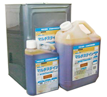 【送料無料(離島/一部地域/ヤマト運輸指定は除く)】上塗りクリアーを選ばないだけでなく、これだけで仕上げも可能! 【送料無料】マルチステイン 全14色 14kg(約140~220平米分) 大阪塗料工業 水性 木部用 着色剤