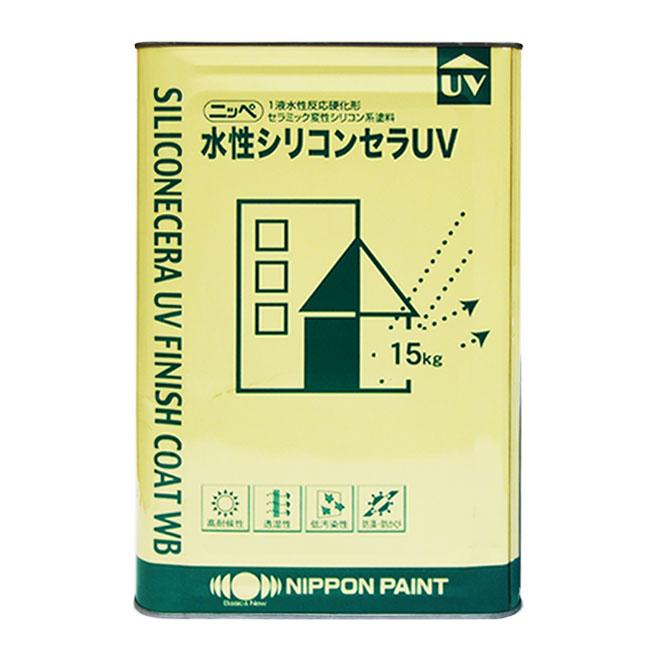 【クーポン配布中】水性シリコンセラUV艶有り 特注色淡彩 4kg 塗料販売