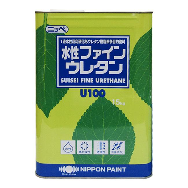【レビューで300円CP!】水性ファインウレタン 調色品(淡彩) 3分ツヤ 5分ツヤ 15kg(約47~58平米分) 日本ペイント 水性 内壁・外壁用 多機能タイプ