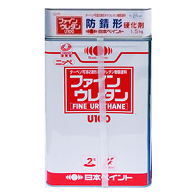 【レビューで300円CP!】防錆形ファインウレタンU100 白 ホワイト ツヤ選択可能 15kgセット(44~62平米分) 日本ペイント 油性 2液 ターペン可溶 防錆形
